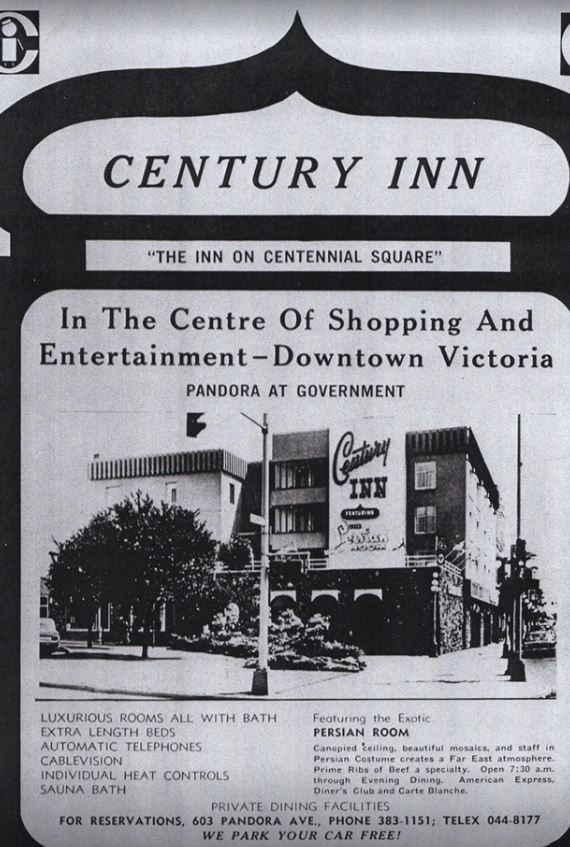 A historic advertisement for the Century Inn. (Glen Mofford)