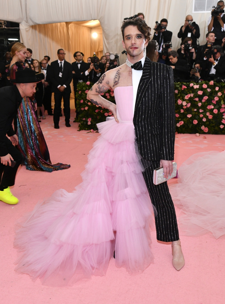 """Michael Urie attends The Metropolitan Museum of Art's Costume Institute benefit gala celebrating the opening of the """"Camp: Notes on Fashion"""" exhibition on Monday, May 6, 2019, in New York. (Photo by Charles Sykes/Invision/AP)"""