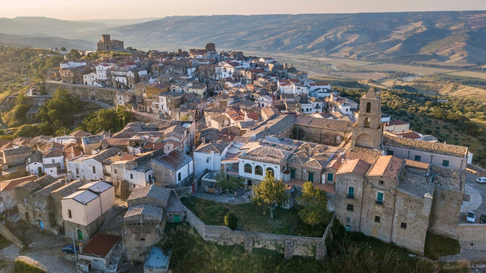 The breathtaking village of Grottole in southern Italy where five volunteers selected by Airbnb will live like locals for three months. (Airbnb)