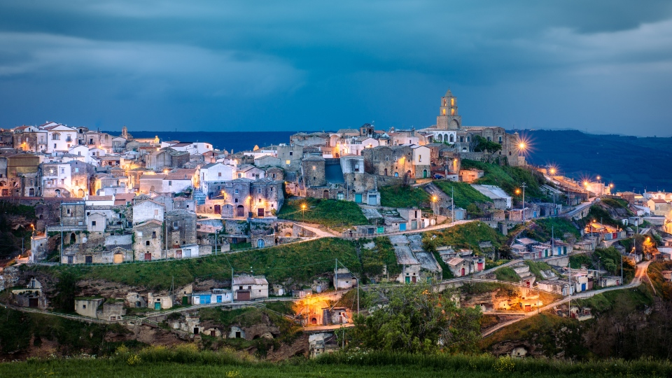 The village of Grottole, a UNESCO World Heritage Site, in southern Italy. (Airbnb)