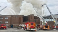 Six-alarm fire