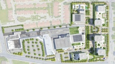 Aerial view of proposed buildings