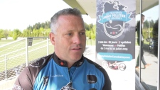 Paralympic athelte cycling across Canada