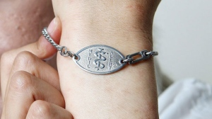 A MedicAlert bracelet is seen in this file image. THE CANADIAN PRESS/Dave Chidley