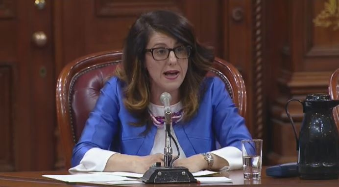 Djemila Benhabib called the hijab 'sexist' as she spoke in support of Bill 21