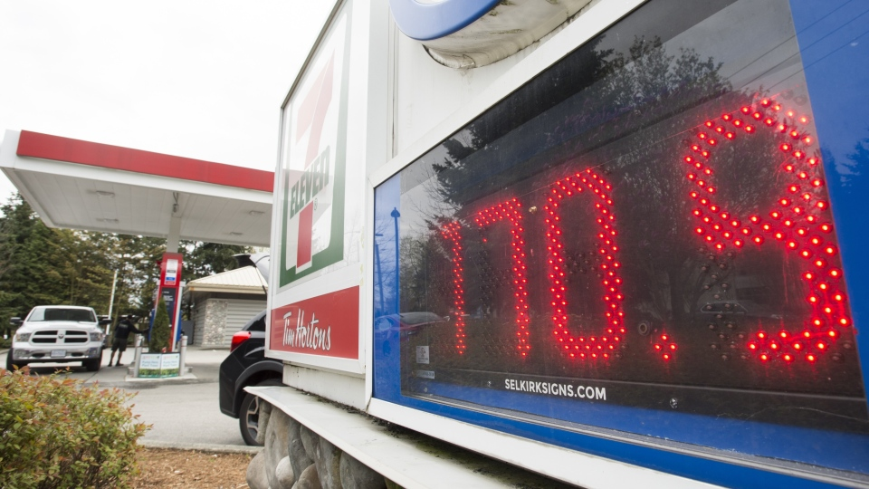 A gas station is pictured in Vancouver, B.C., Wednesday, Apr 17, 2019. THE CANADIAN PRESS/Jonathan Hayward