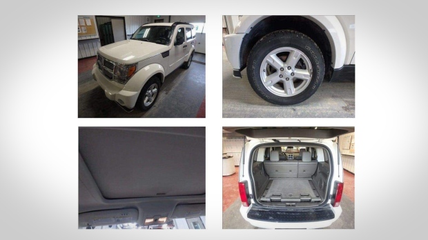 Vehicle stolen from Canadian Tire auto shop found across