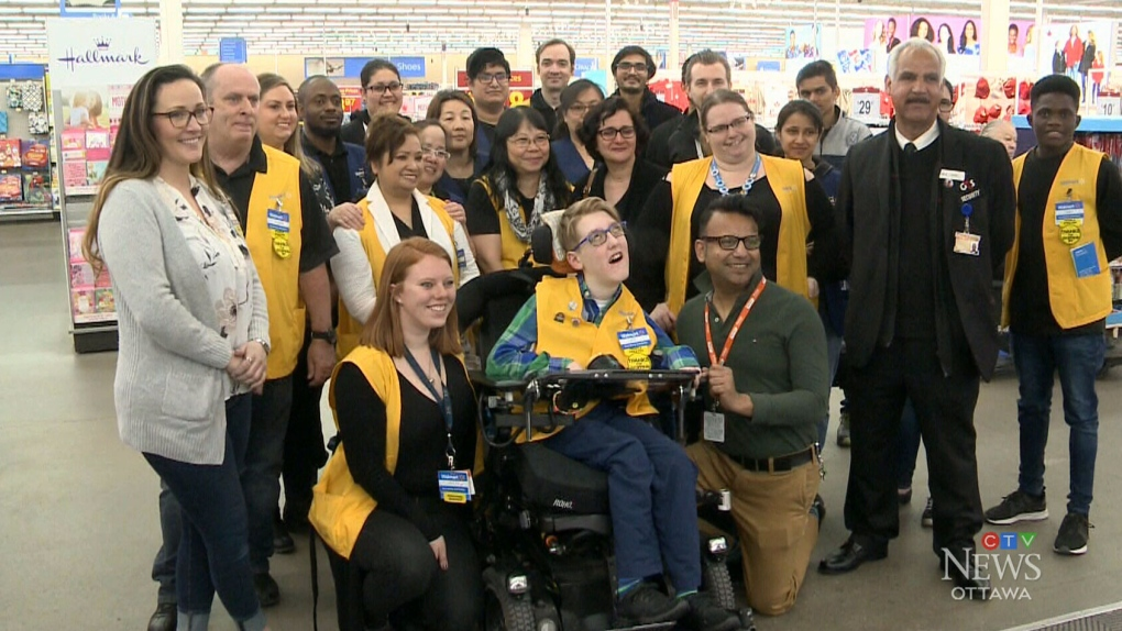 Ottawa teen with rare disorder lives out dream of becoming a Walmart greeter