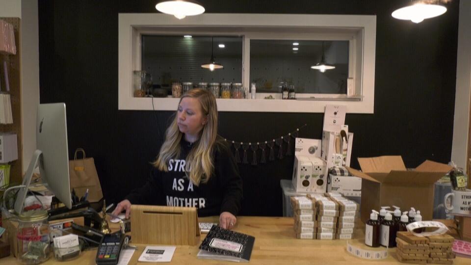 Tamara Komuniecki is seen in her shop in May 2019.