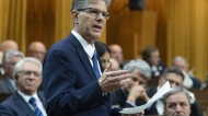 Conservative MP for Langley-Aldergrove Mark Warawa delivers his final speech in the House of Commons, Tuesday, May 7, 2019 in Ottawa. Warawa, who was diagnosed with pancreatic cancer, announced recently the cancer had spread. THE CANADIAN PRESS/Adrian Wyld