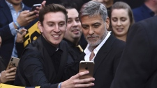 George Clooney at the L.A. premiere of 'Catch-22'