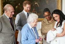 Queen meets newest member of royal family