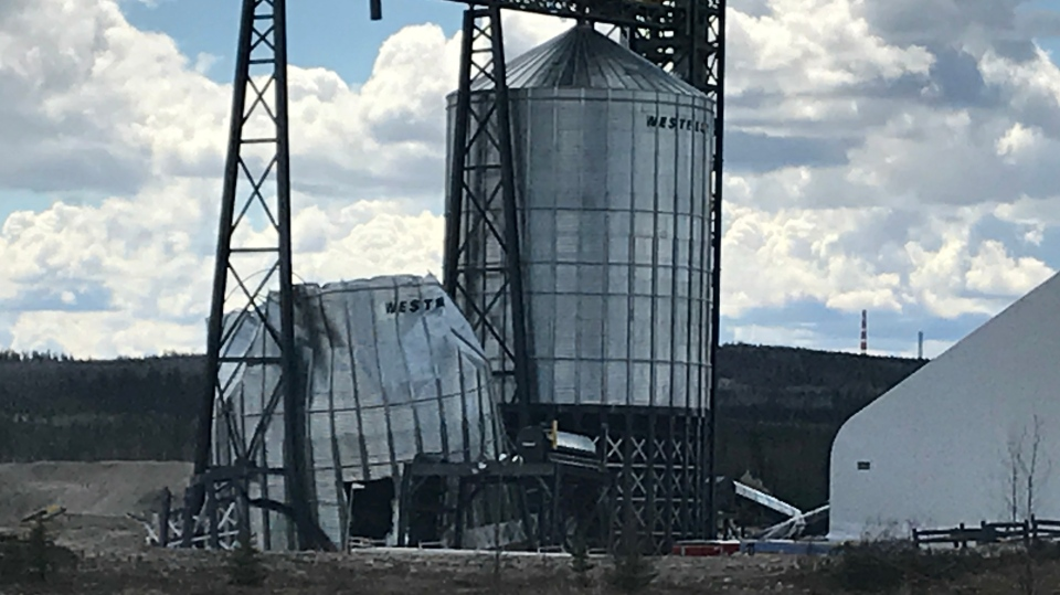 Fox Creek sand silo collapse