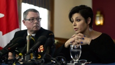 Mark Norman sits with his lawyer Marie Henein