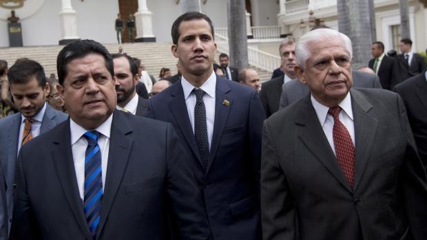 Edgar Zambrano, Juan Guaido, Omar Barboza