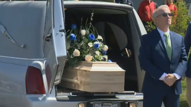 A funeral was held in Granby for a girl who died in the care of her father.