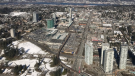 Surrey is seen in this undated file image from CTV's Chopper 9 helicopter.