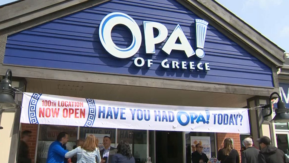 OPA! of Greece opened its 100th Canadian location in Calgary, the same city where it started 20 years ago.