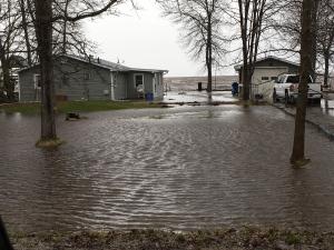 Flooding on Jocko Point on Lake Nipissing (