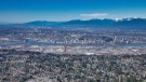 Surrey and New Westminster are seen from the air in CTV's Chopper 9 in May 2019. (Pete Cline / CTV News Vancouver)
