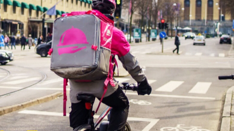 Foodora couriers in Toronto want union certification to create Canada's first unionized workforce in the gig economy. (File photo)