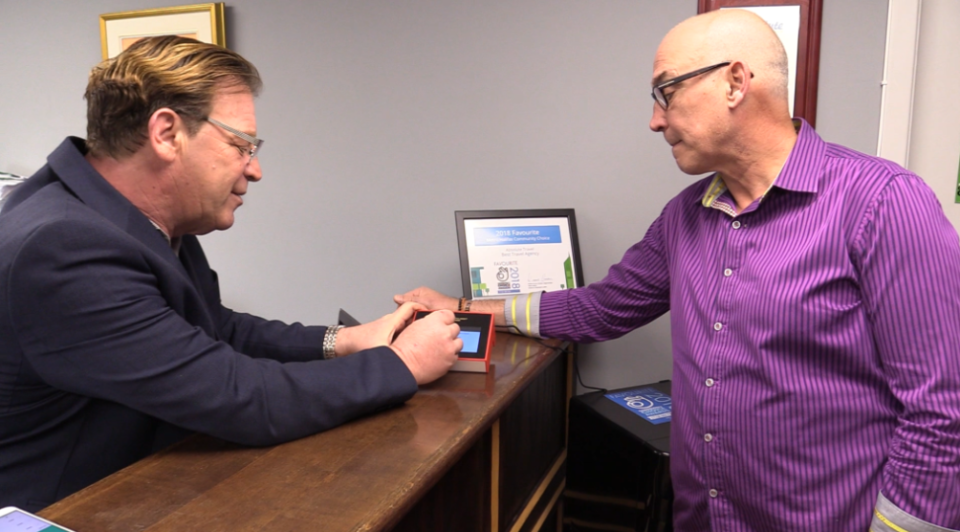 Offman has partnered with Fred Mack and Absolute Travel, making them the first travel agency in North America to accept Bitcoin via this method of payment.