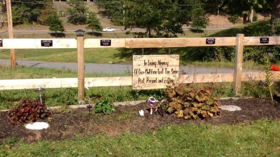 A memorial garden in Kemptville, N.S., which is tended by a group of parents who've lost children.