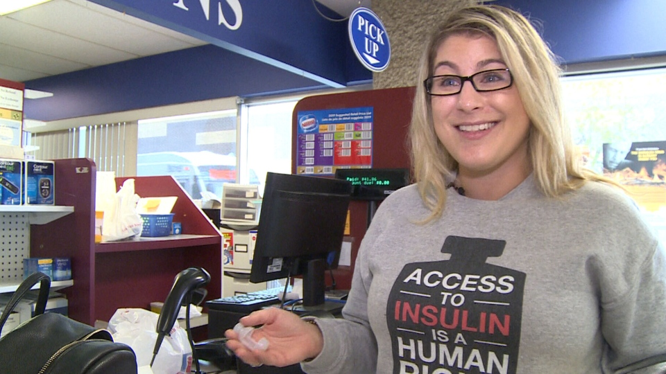 American diabetes patient Jillian Rippolone travelled from Minnesota to Ontario to buyer cheaper insulin. (CTV News)