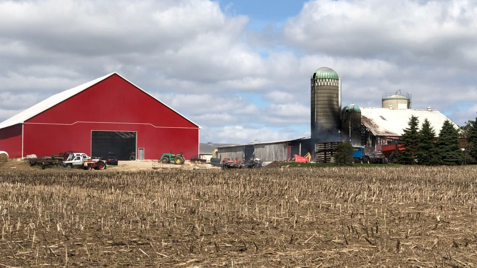 Barn fire investigation in Woolwich. (May 11, 2019)