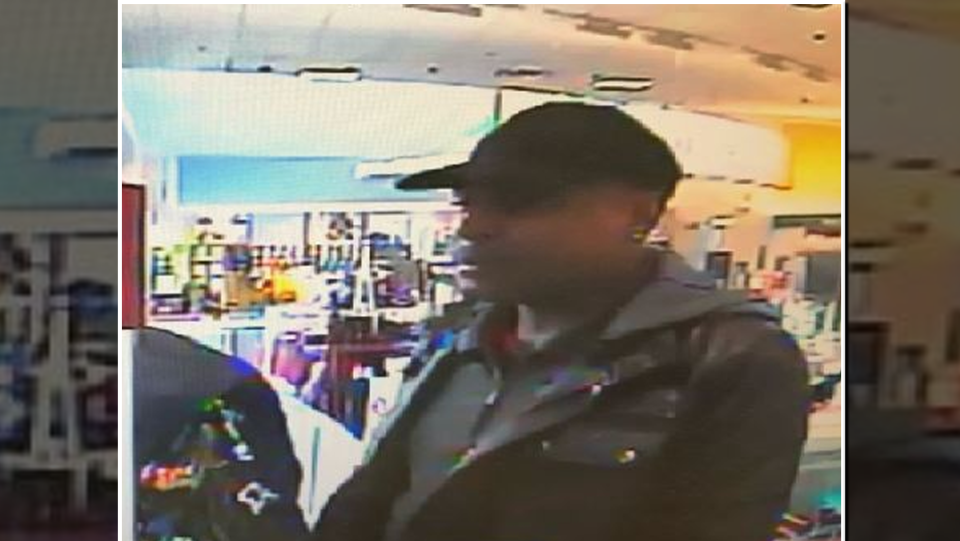 Security image of a man wanted by Waterloo Regional Police.