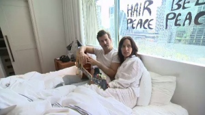 Chantal Kreviazuk and Raine Maida