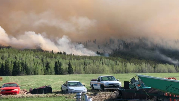 Evacuations ordered as human-caused wildfire sparks near Fraser Lake