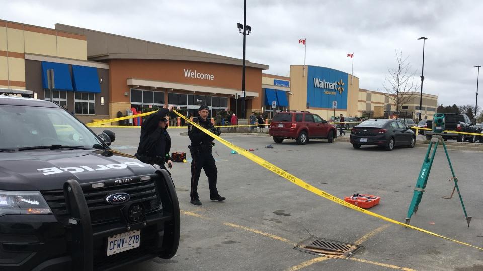 Stratford Police investigating hit and run at a Walmart parking lot. (May 12, 2019)