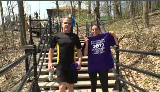 Jewish General Hospital brings people to Mount Royal summit to raise funds, awareness for pancreatic cancer