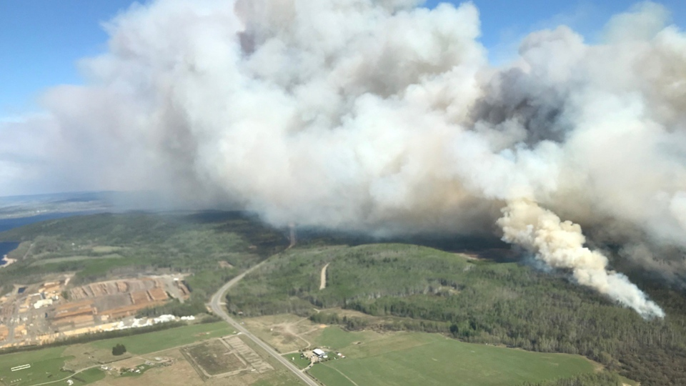 The Lejac wildfire is ocated 5 km east of the community of Fraser Lake. Courtesy: BC Wildfire Service