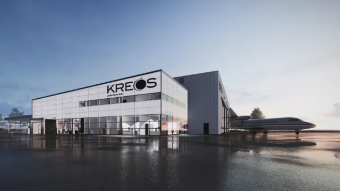 Kreos Aviation's plans for a 30,000 square foot hangar that will be built at the Regina Airport.