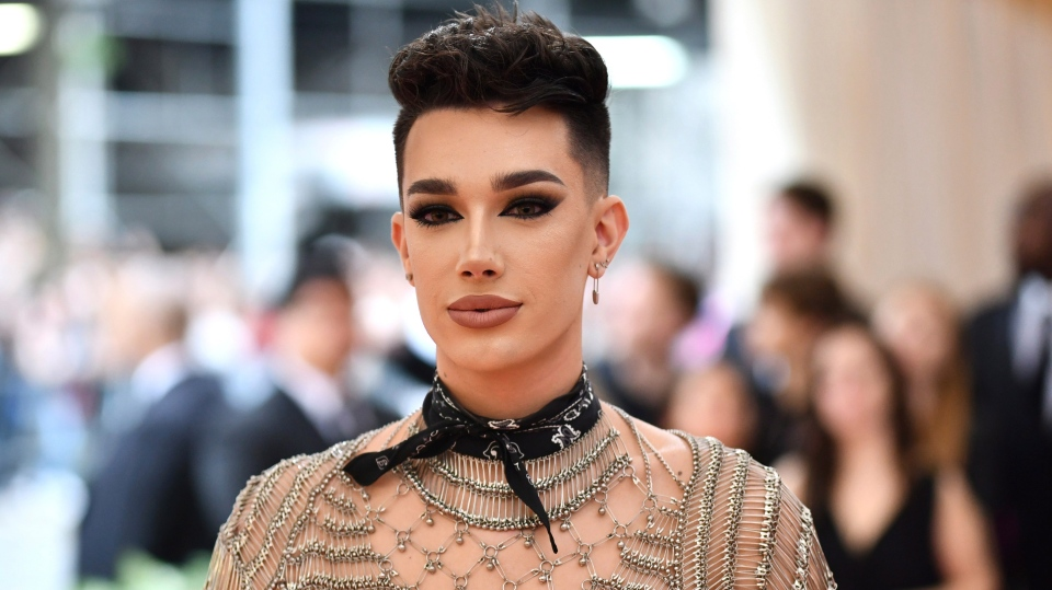 "James Charles attends The Metropolitan Museum of Art's Costume Institute benefit gala celebrating the opening of the ""Camp: Notes on Fashion"" exhibition on Monday, May 6, 2019, in New York. (Photo by Charles Sykes/Invision/AP)"
