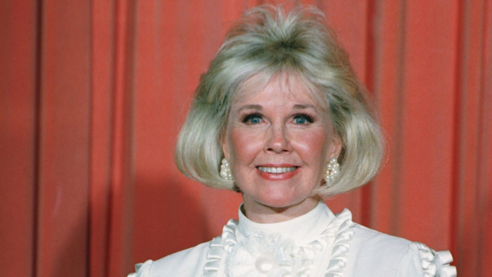 Doris Day after receiving the Cecil B. DeMille Award on Jan. 28, 1989. (AP File)