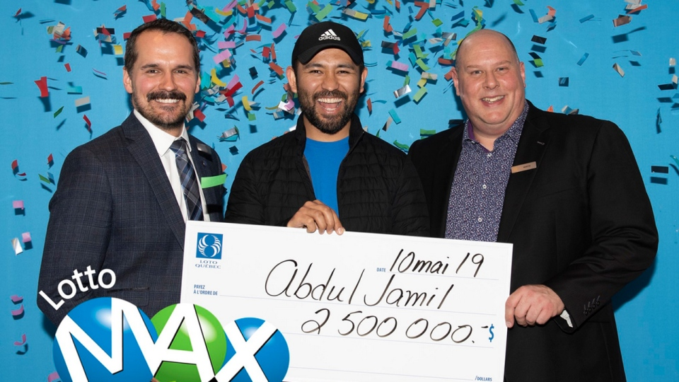 Abdul Jamil was the last person to collect a share of a $50 million lottery prize (Photo courtesy Loto Quebec)