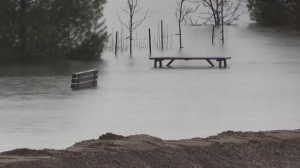 Flood levels drop a few inches in Mattawa over the weekend, but are expected to rise again this week.