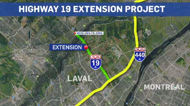 The federal government is spending $345 million to extend Highway 19 and upgrade the Pie IX bridge.