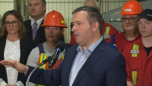 Kenney speaks to reporters