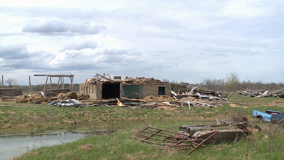 The barn Muldoon was on during the tornado.