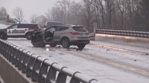 An SUV after a crash