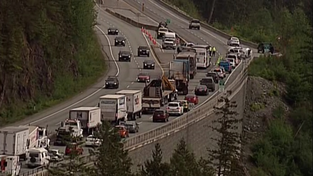 Major delays' on Sea to Sky Highway after serious collision