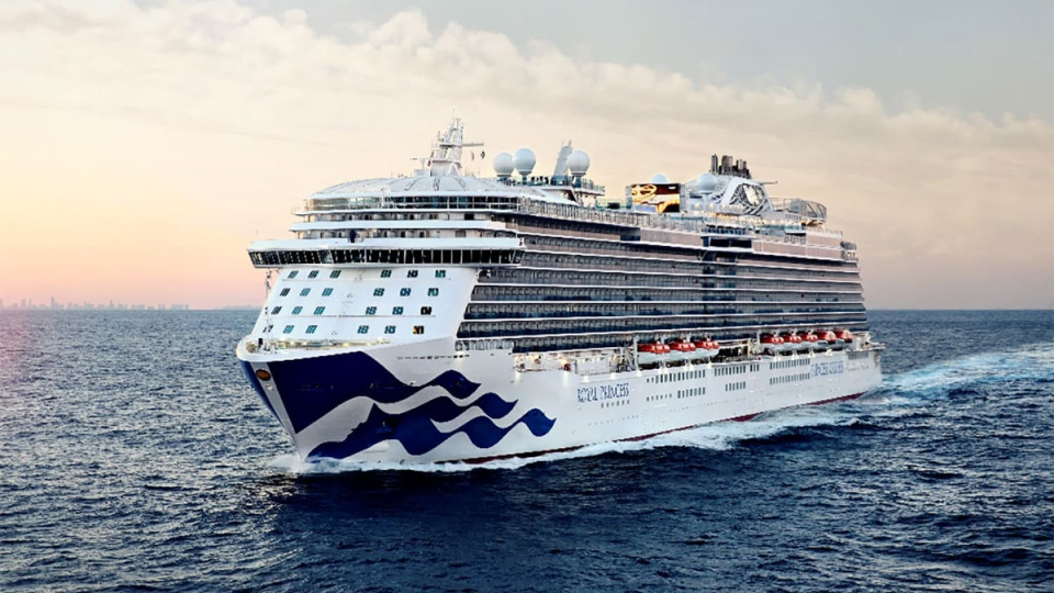 The Royal Princess cruise ship is shown in an image from Princess Cruises.