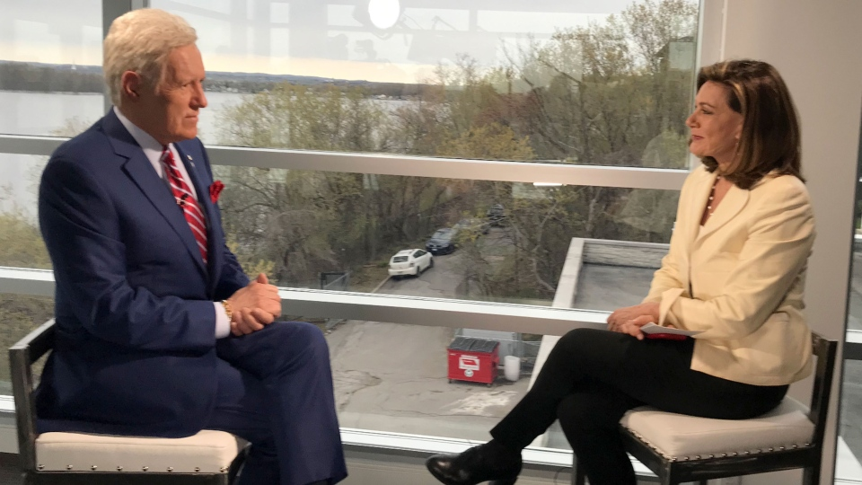 Trebek in a sit-down interview with CTV National News' Chief Anchor and Senior Editor Lisa LaFlamme.