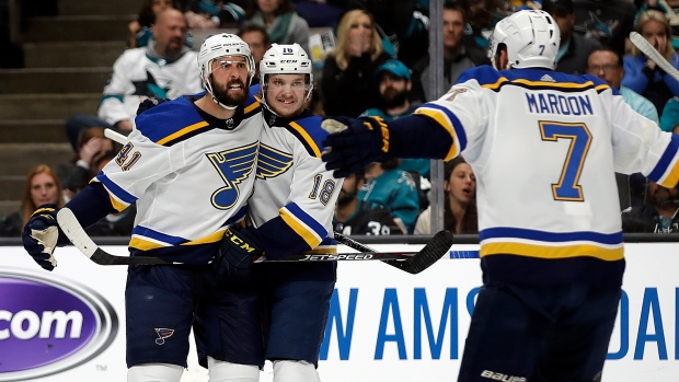 Nhl Playoffs Blues Defence Fuels Offence In 4 2 Game 2 Win Over