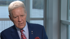 Alex Trebek in a sit-down interview in May, 2019, with CTV National News' Chief Anchor and Senior Editor Lisa LaFlamme. (CTV News)