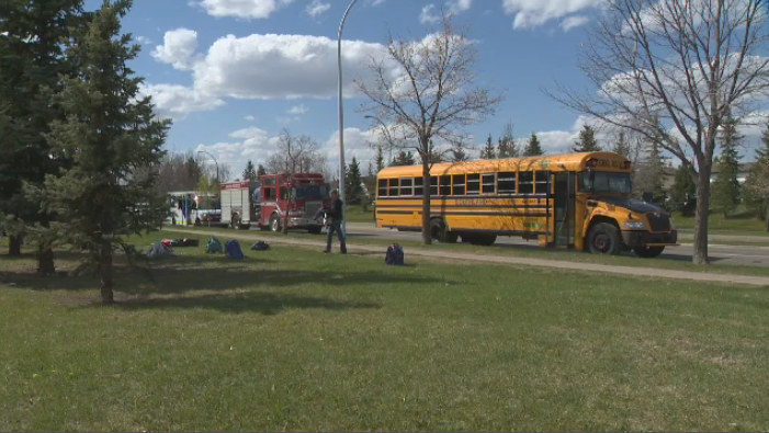 A school bus full of students was pepper sprayed on Monday.
